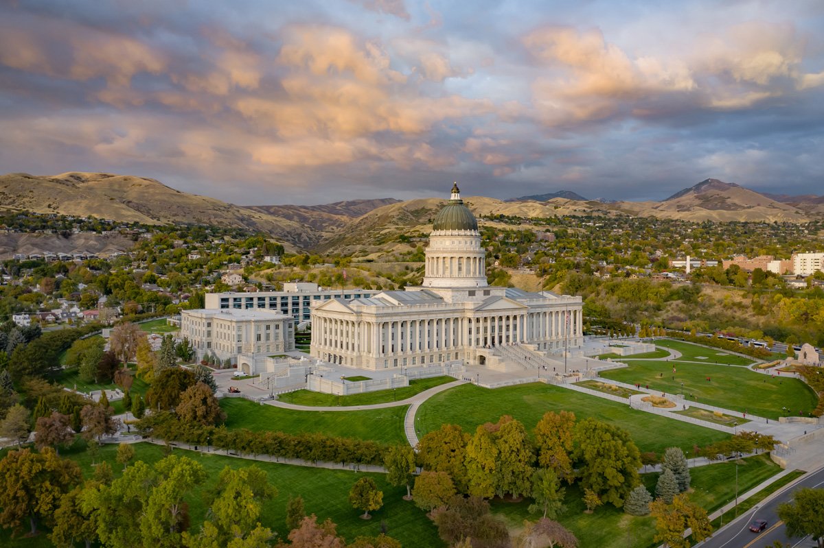 Aerial picture of Capitol from south-west