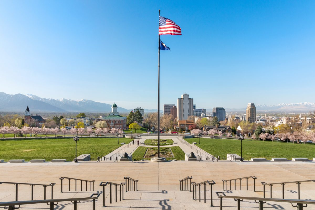 Picture from the steps of the Utah Capitol